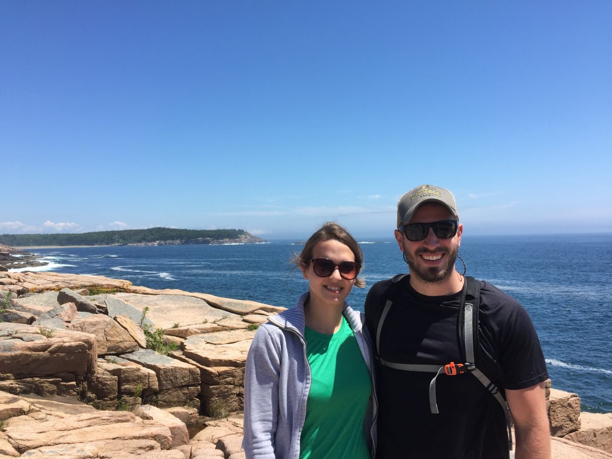 Alex and Mike Vollman at Acadia National Park