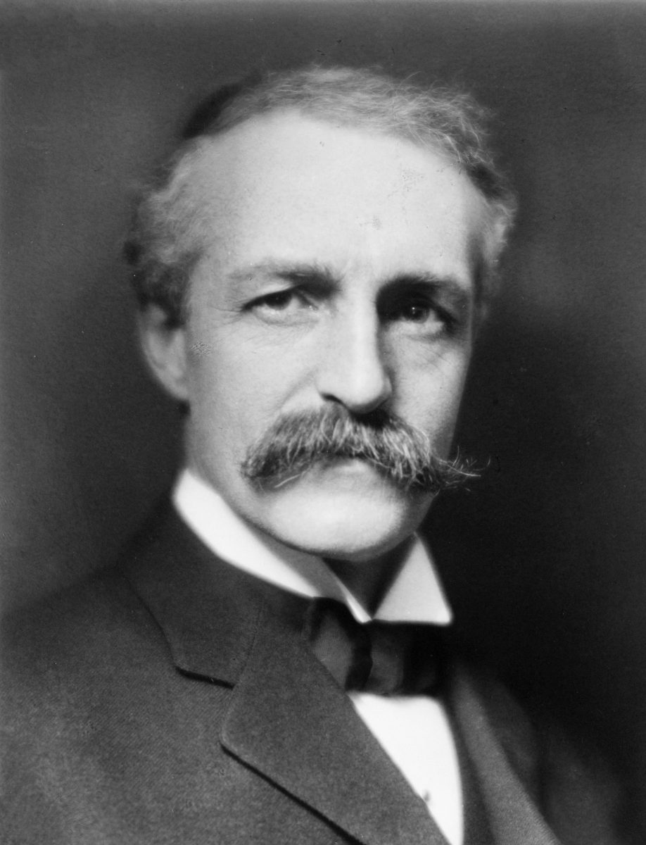 A black and white portrait of Gifford Pinchot