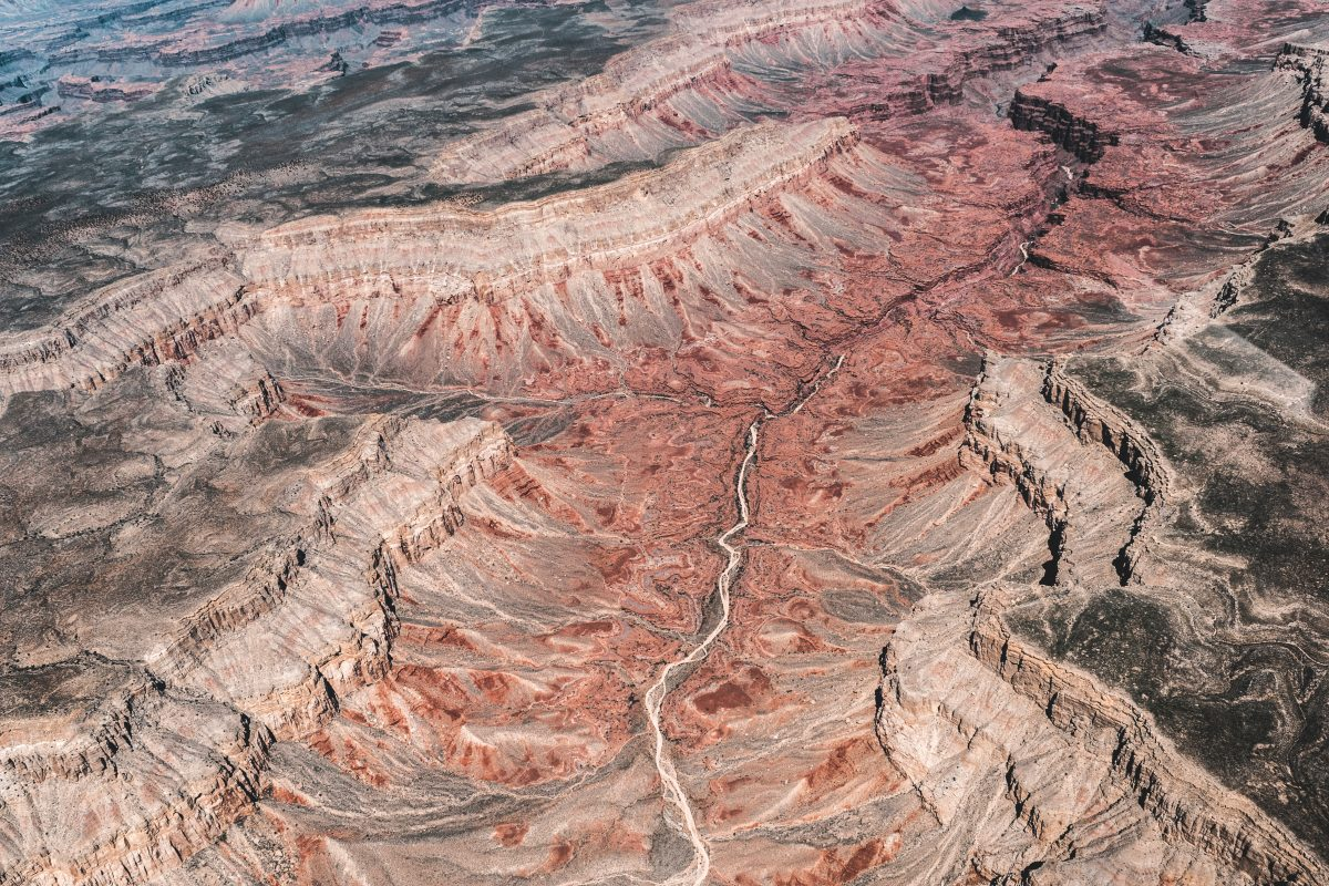 Sweeping ariel view of the Grand Canyon
