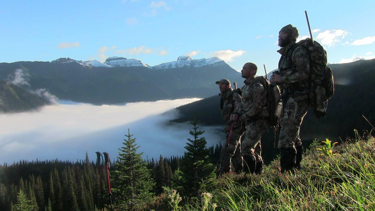 Wounded veterans hunting on a mountain