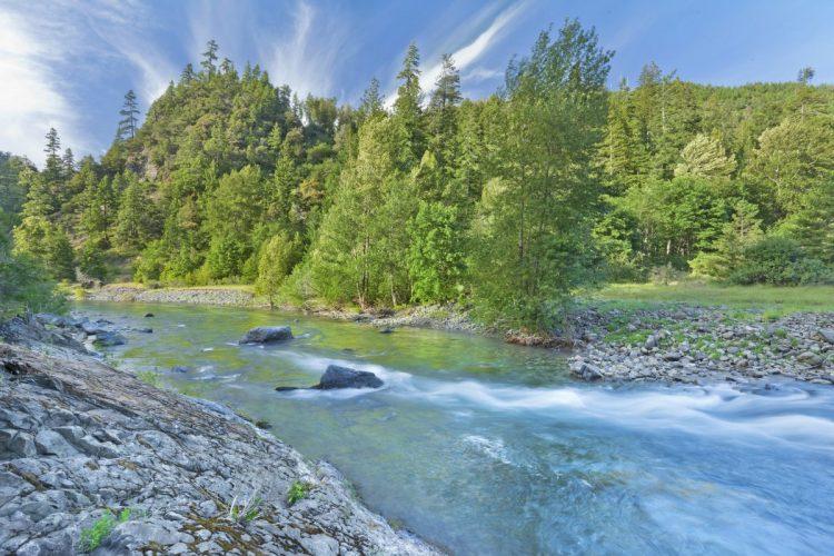 Blue Creek at the Klamath River in California