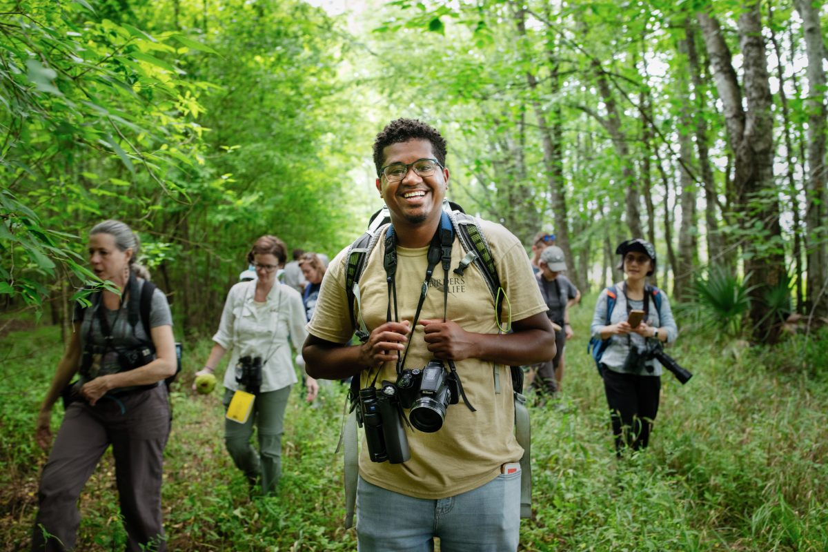 Audubon Apprentice Jason Ward leads a bird walk