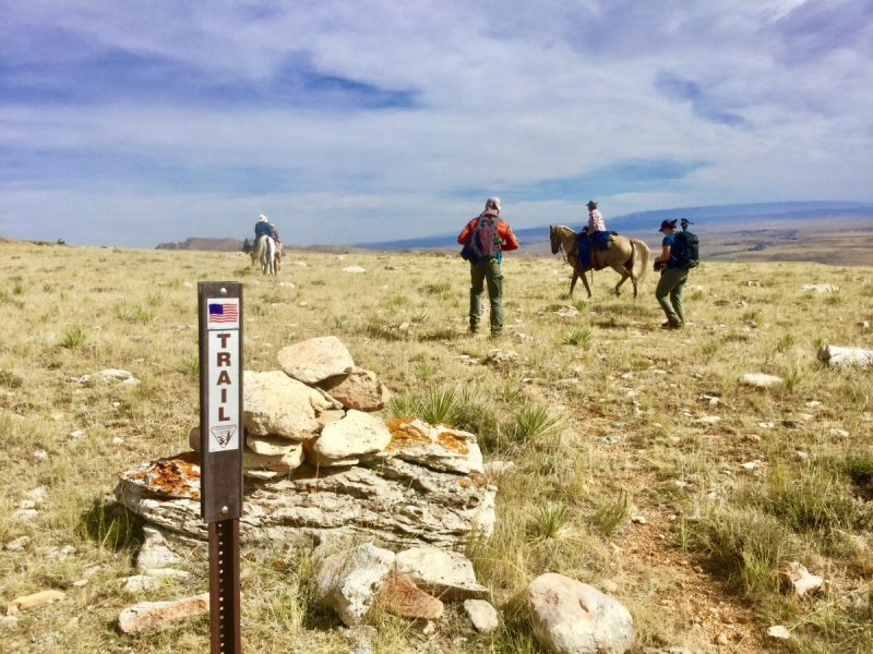 A horseback riding and hiking trail in Shoshone National Forest